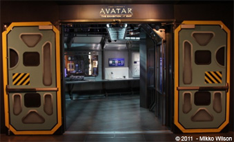 Avatar Exhibit entrance doors.